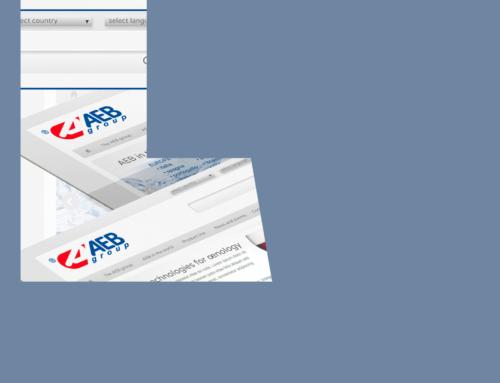 AEB Group, Web design per un nuovo sito